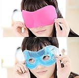 Ameuli Augenmaske-3D Kontur Schlafmaske - mit Eisbeutel Schlaf Dunkle Augenpflege - Reisen, Nickerchen, Meditation Schlafassistent - Männer und Frauen Augenschutz,b,Eis-Brille