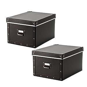 IKEA fjälla Box mit Deckel, braun 2 Pack (27 x 36 x 20 cm