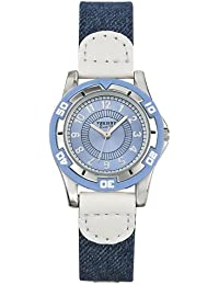 Trendy Kiddy - KL125 - Montre Garçon - Quartz Analogique - Cadran Bleu - Bracelet Tissu Bleu