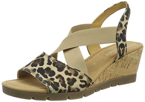 Gabor Shoes Comfort Sport, Sandali con Cinturino alla Caviglia Donna, Beige (Natur (Kork/Ambra) 90), 41 EU