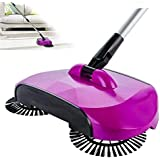 Nira Creation Stainless Steel Sweeping Machine Push Type Hand Push Magic Broom Dustpan Handle Household Cleaning Package Hand Push Sweeper - Multi Color