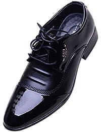 HYLM Hombre zapatos de negocios Los hombres de Inglaterra zapatos casuales Derby zapatos de fiesta zapatos de boda zapatos de vestir , 43 , black