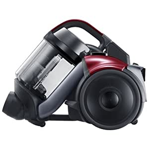 Samsung VC07F50HDVR CycloneForce Pet Bagless Cylinder Vacuum Cleaner Energy Rating: A Carpet Rating: D Hard Floor Rating: A Filtration Rating: A Noise Level: 80 dBA - Red