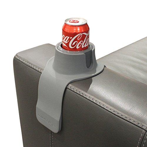 CouchCoaster, der ultimative Getränkehalter in Einheitsgröße, Stahlgrau - Möbel Untersetzer Unternehmen