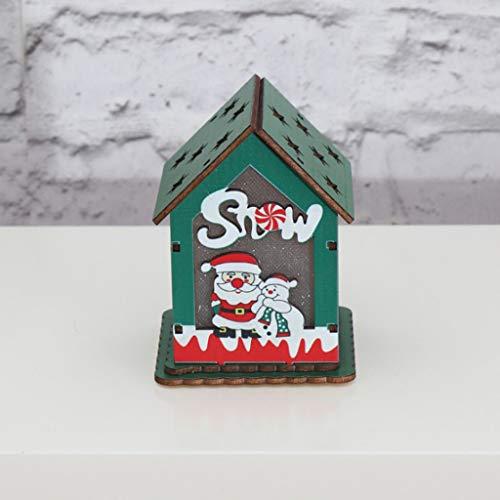 jieGREAT ❄ Weihnachten Deko❄ ,Holz Haus süße Weihnachtsbaum hängen Ornamente Urlaub Dekoration