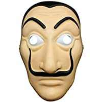 """Geekmonkey """"Money Heist"""" """"La casa de Papel"""" """"The House of Paper"""" Salvador Dalí Face Mask for Cosplay, Party, Theme Play…"""
