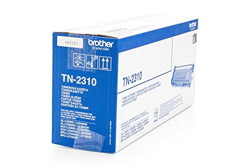 Preisvergleich Produktbild 1x Original Brother Toner TN2310 TN 2310 für Brother DCP-L 2520 DW - BLACK + 500 Blatt Ti-Sa Kopierpapier 80g weiß - Leistung ca. 1200 Seiten/5%