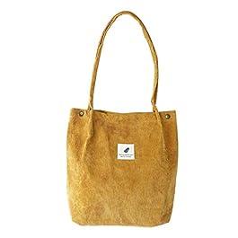 Eflying Lion Borsa a tracolla in velluto a coste, shopping bag, borse casual retrò, borsa da donna, borsa a spalla da donna