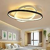 Modern LED Deckenleuchte Fernbedienung Dimmbar Deckenlampe Kreativ Wohnzimmer Schlafzimmer Studie Esszimmer Dekorativer Deckenbeleuchtung Eleganter Oval Acryl Lampenschirm L50cm*W42cm 36W