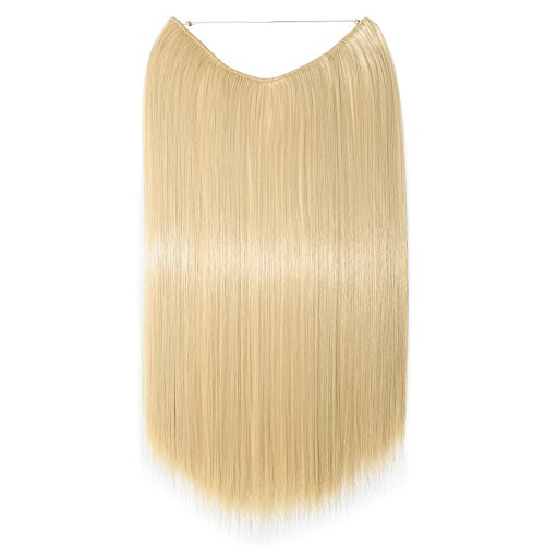 61 cm dritto filo trasparente hair extensions extension one pice regolabile senza clip in hairpieces