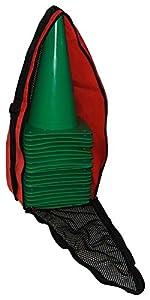 agility sport pour chiens - lot de 20 plots de délimitation 30 cm, couleur: vert foncé, contient également: un sac pratique - 20x MK30dg