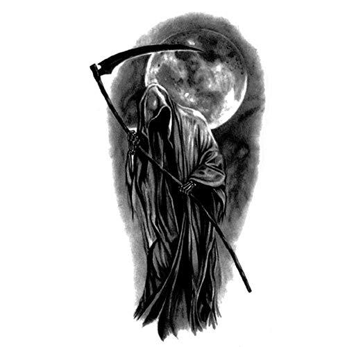 EROSPA® Tattoo-Bogen temporär - Sensenmann - Halloween - 5,2 x 9,5 cm
