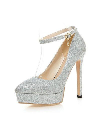 WSS 2016 Chaussures Femme-Bureau & Travail / Habillé / Décontracté-Noir / Rouge / Argent / Or-Talon Aiguille-Bout Pointu / Bout Fermé-Talons- golden-us8.5 / eu39 / uk6.5 / cn40