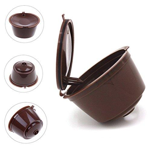 Milopon 2 Kaffee Kapseln Kaffeekapselfüllung für Dolce Wiederverwendbare Kapselmaschine i cafilas