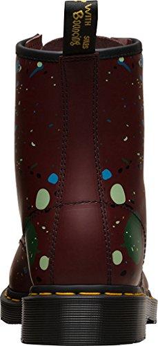 Dr. Martens 1460, Bottes mixte adulte Cherry Red Splatter Smooth