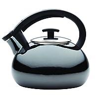 Anolon 59925 Allume Tea Kettles Enamel on Steel Tea Kettle, 2 quart, Onyx