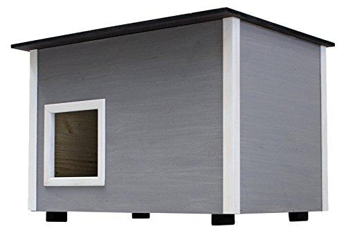 *Elmato Luxus-Katzenhaus mit isoliertem, 14mm dickem Boden*