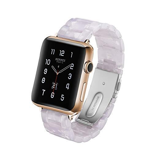 MTSBW Für Iwatch Band, Mode Harz Apple Watch Band Ersatz Erbaut In Edelstahl Schnalle Mit Link Pins Für Serie 4 3 2 1,38Mm