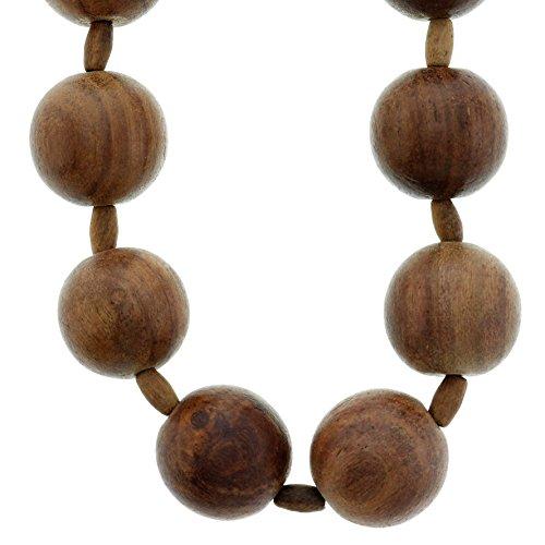 Braune Holz Halskette groß - Yoga Holzperlen Halskette - Holz klobige Halsketten