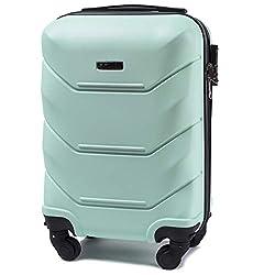VINCI LUGGAGE Geräumiger Kabinentrolley - Leichter Flugzeugkoffer - Luxuriöser und moderner Koffer mit zweistufigen Teleskopgriff und Kombinationsschloss (Hellgrün, XS (50x33x20))