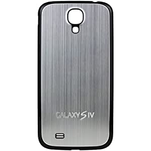 xubix Galaxy S4 Akkudeckel brushed Metall Look Samsung i9500 / i9505 Black Edition / Silber