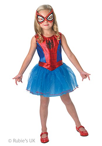 Officially licensed Marvel The Ultimate Spider-ManTM costume for girls. Includes a tutu dress with mask. Ideal for superhero themed events, Halloween, kids fun runs etc. In three sizes.