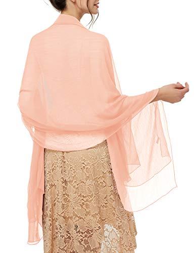Schals Für Frauen (bridesmay Damen Strand Scarves Sonnenschutz Schal Sommer Tuch Stola für Kleider in 29 Farben Pink-2)