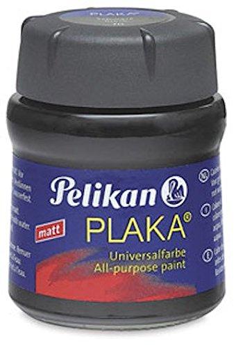 Pelikan 101212 - Bastelfarbe Plaka, Glas Ton 70, 50 ml, schwarz