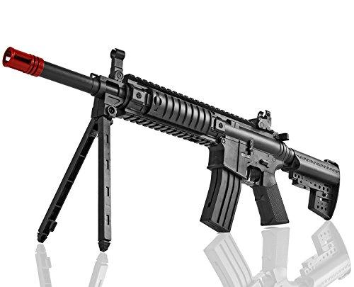 Kinder Sturm Kostüm - Sturm-Gewehr 56cm Air-Soft Zwei-Bein 6mm Kugeln Magazin Munition Kinder-Spielzeug-Waffe Softair Gewehr ab 14 Jahren Pistole Army Soldaten Kinder-Kostüm