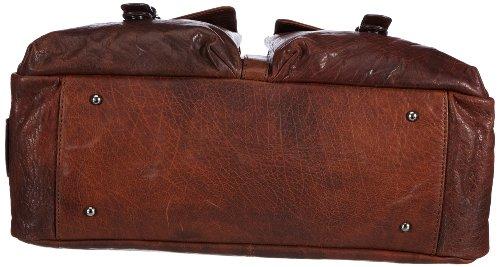 Sansibar Zonda B-174 ZD 06, Damen Shopper 44x32x15 cm (B x H x T) Braun (Cognac)