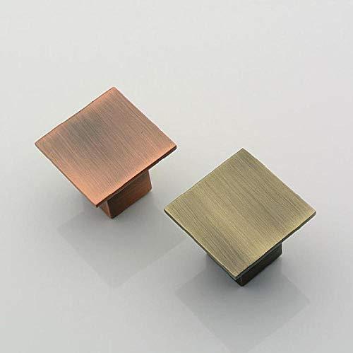 XOYOYO Antique Brass Dresser Pulls Schublade Türgriffe Square Cabinet Türgriff Square Furniture Knob @ Copper - Antique Copper Knob