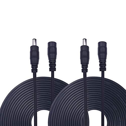 Kabenjee 2x 10m/33ft DC-Netzteil-Verlängerungskabel,5.5mm x 2.1mm DC Verlängerung Verbinder Draht für LED Streifen-CCTV-Überwachungskameras-Auto,Monitore-Ip Kamera DVR,AHD Überwachungskamera Systeme Dvr-kamera-system