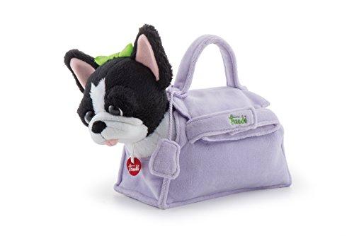 Trudi- Bulldog Francese Lilac Bag, Multicolore, 20 cm, 29789