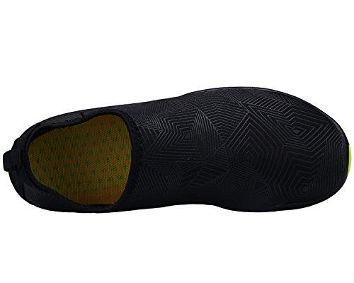 Bdawin Donna Uomo Scarpe da Immersione Antiscivolo Scarpe Acqua Sportive per Spiaggia Nuotare Surf Yoga,HD01 Blackwhite EU37
