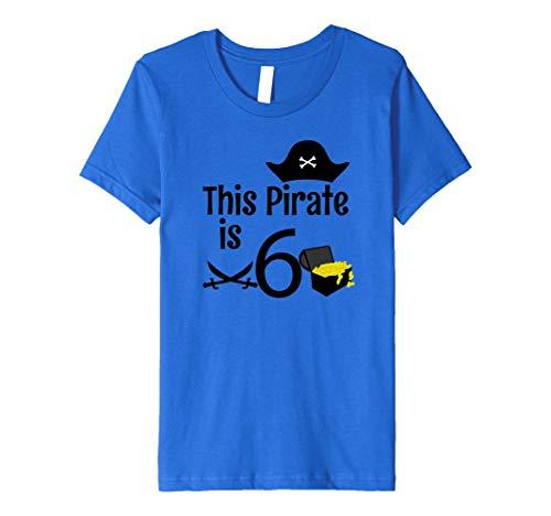 Kinder Kinder 6Jahre Old Pirat Geburtstag Party 6. Geburtstag T-Shirt Preisvergleich