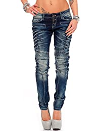 Cipo & Baxx Damen Jeans Hose Hüftjeans Slim Fit Stretch