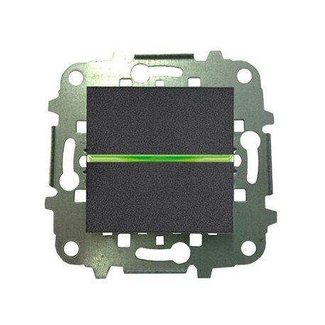 Niessen zenit - Pulsador con piloto 2 módulos zenit antracita