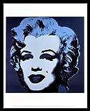 Andy Warhol Marilyn Monroe 1967 black Poster Kunstdruck Bild im Alu Rahmen schwarz 42x34cm - Germanposters