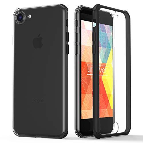 Urcover® 360 Grad rundum Schutzhülle kompatibel mit Apple iPhone 7/8 I berühmt aus Galileo I Quattro Edition I Schwarz