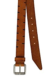 Aditi Wasan Genuine Leather Tan-Brown Mens Belt