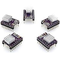 Popprint DRV8825 - Controladores de motor de pasos y disipadores de calor de 4capas para impresora 3D RP1.4 A4988, paquete de 5