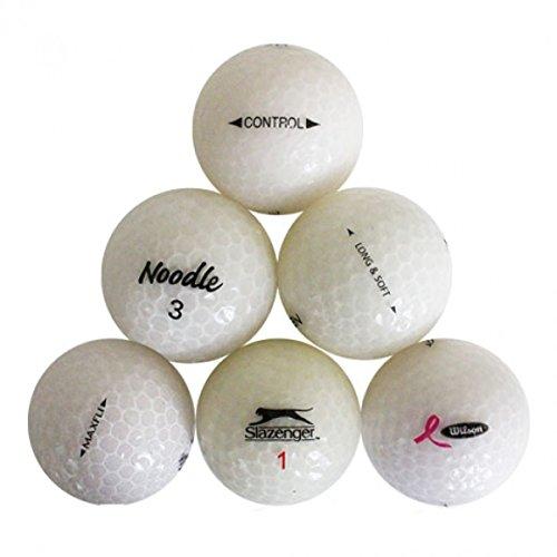 Value Wert Unisex Kristall Weiß Mix Mint recyceltem Golf Bälle–24Stück