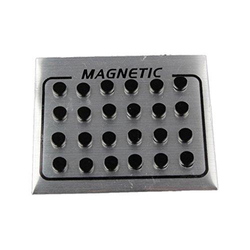 Prettyia 12 Paar Männer Frauen Schwarz Magnetischen Clip Auf Ohrstecker Ohrringe Keine Piercing - Männer Magnet-ohrstecker Schwarz