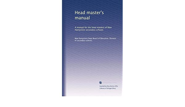 headmaster manual west bengal