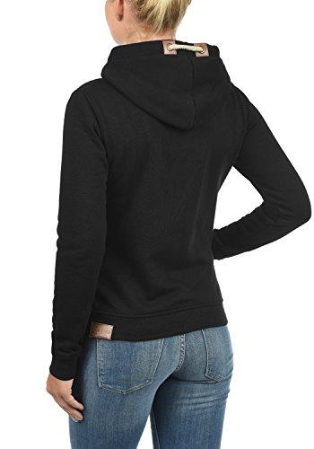 DESIRES Vicky Zip-Hood Damen Sweatjacke Kapuzenjacke Hoodie Mit Kapuze Fleece-Innenseite Und Cross-Over-Kragen, Größe:XL, Farbe:Black (9000) - 3