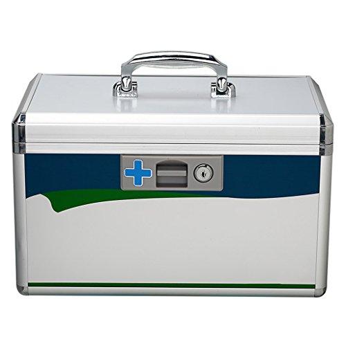 XXGI Erste-Hilfe-Kasten und Erste-Hilfe-Kasten und Medizin-Box Für Drogen-Aufbewahrungsbox und Lagerung Medizinische Box und Notfall-Medizin-Kit und Notfall-Kit (35,5X21X21Cm (13,98X8,27X8,27Inch) (21 Schubladen Tool Box)