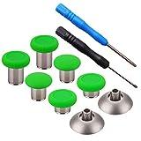 YoRHa 8 en 1 Métal magnétique Thumbsticks Analog Sticks Joysticks Réparation de remplacement Kits(vert) pour PS4/Slim/Pro & Xbox One/Elite/X/S Manette avec Tournevis
