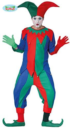 Narr - Kostüm f. Herren Karneval Fasching Hoffnarr Mittelalter Spaß Freude Gr. M - L, Größe:L