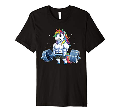 Unicorn Weightlifting T shirt Fitness Gym Deadlift Rainbow 5a3fa73e6