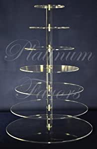 7 Tier Round Acrylic Cupcake Maypole Stand (MPR9022) by Selected Wholesales